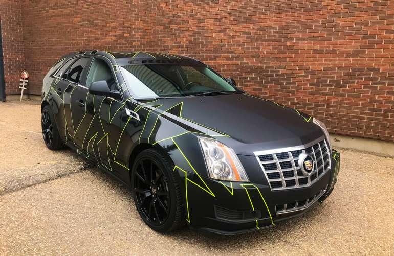 Cadillac STS Cast Vinyl Camo Wrap