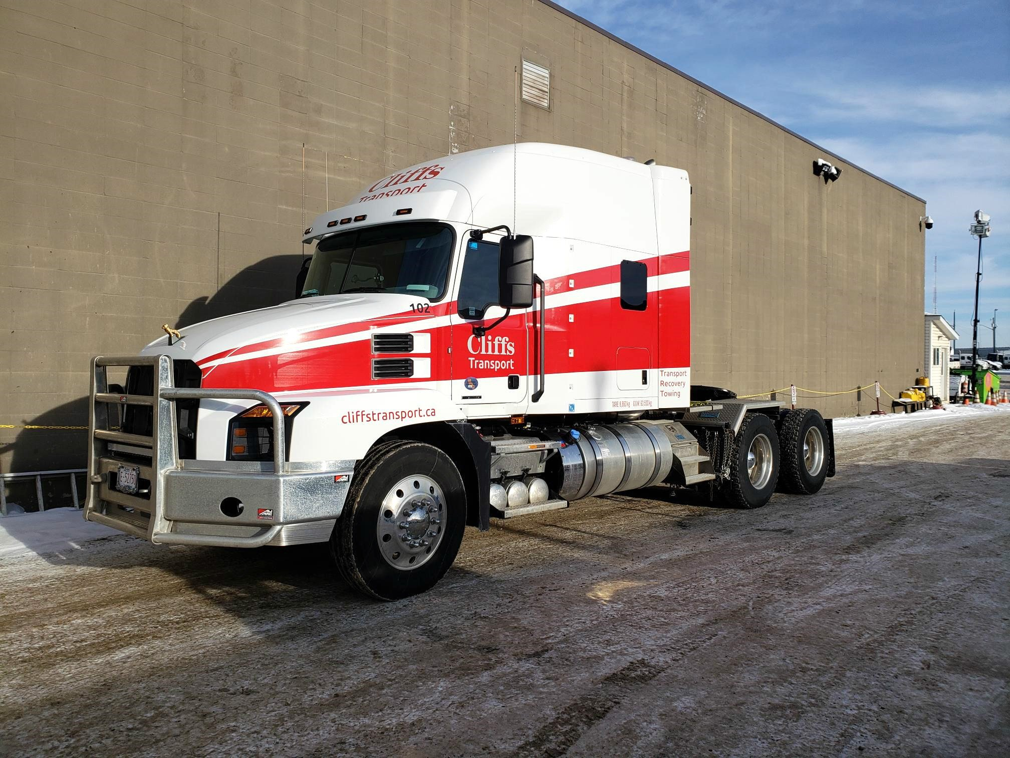 Cliffs Towing Tractor Trailer Spot Graphics