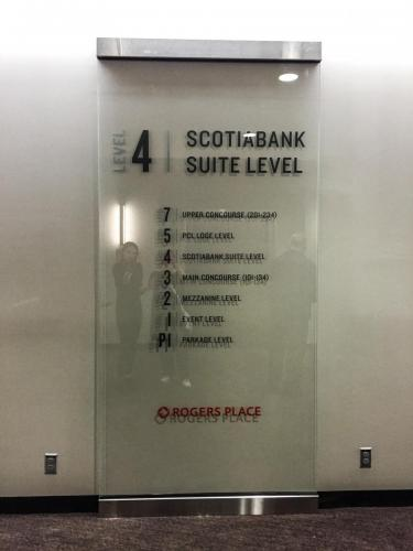 Rogers Place Braille Wayfinding