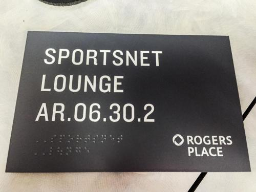 Rogers Place Braille Wayfinding 5