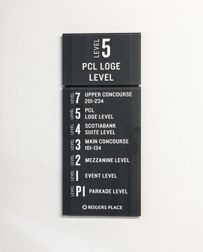 Rogers Place Braille Wayfinding 3