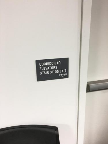 Rogers Place Braille Wayfinding 6