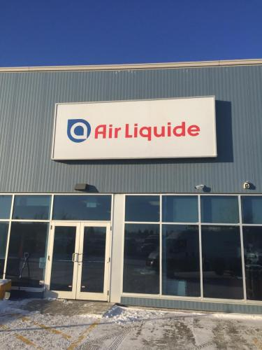 Air Liquide - Backlit Building Signage