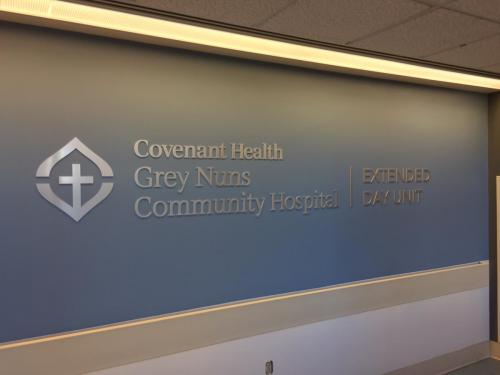 Covenant Health - Grey Nuns -Various Interior Building Signage
