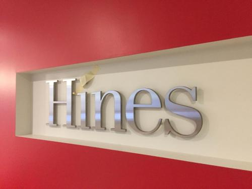 Kelly Ramsey - Hines - Steel Letters Business Signage