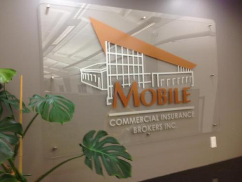 Mobile Commercial Insurance - business waiting room wall sign