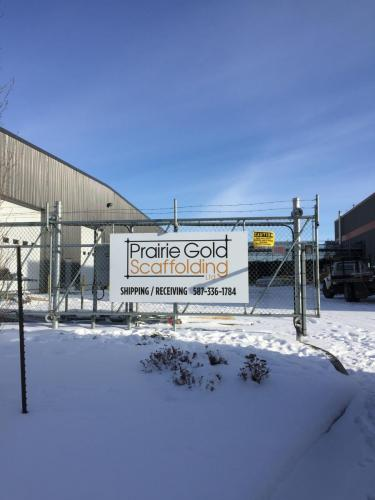 Prairie Gold Scaffolding - Construction - Exterior Fence Sign
