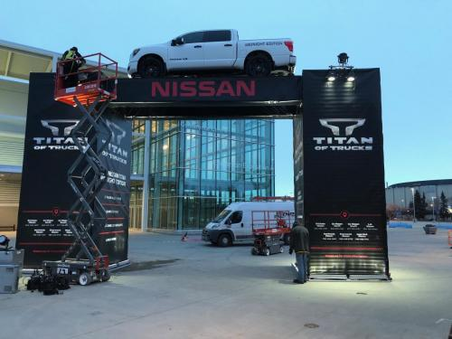 Edmonton Motor Show - Nissan Archway - Event Signage