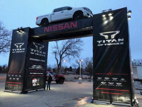 Edmonton Motor Show - Nissan Archway - Event Signage 2