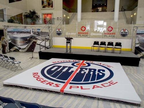 Edmonton Oilers - Banners at City Hall Press Release - Event Signage