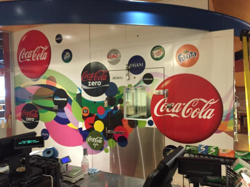 Coca Cola - Nait Cafeteria - Mural/Wall Graphics