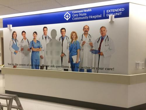 Covenant Health  Elevator Wraps  - Wall Graphics - Murals 2