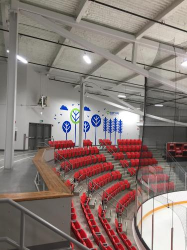 Servus Credit Union -  - Red Deer Arena - Wall Mural - Wall Graphics