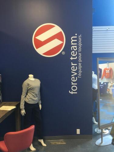 Stadium Sportswear -  Interior store graphics -