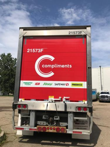 Our Compliments Red -Trailer Graphics - 06-30-20