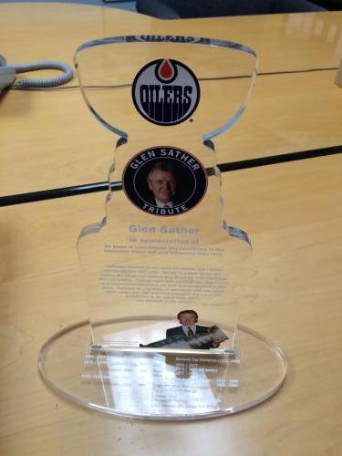 Glen Sather Trophy - Specialty Item