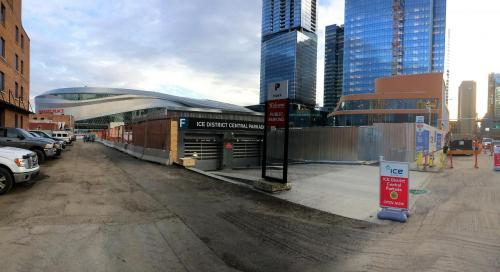 Stantec Parkade Edmonton - Entry and Clearance Signs