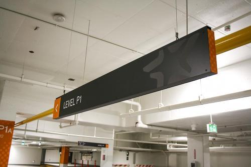 Stantec Parkade Edmonton - Hanging Directional Signage