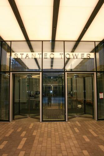 Stantec Tower Edmonton - Fabricated Stainless Steel Lettering