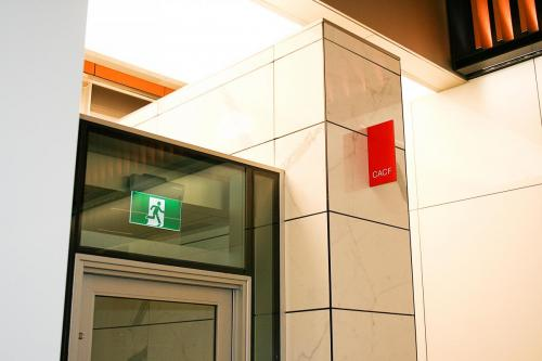 Stantec Tower Edmonton - Projecting Safety & Wayfinding Signage