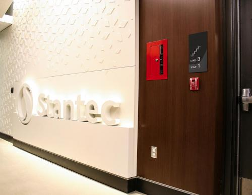 Stantec Tower Edmonton - Front of House Stairwell Signage