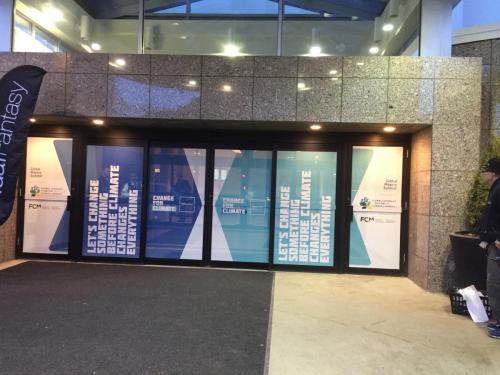 City of Edmonton  - Climate Change window graphics - Chateau Lacombe -