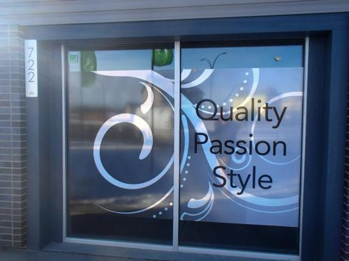 DOlce Vite Homes window film show home - Window Graphics