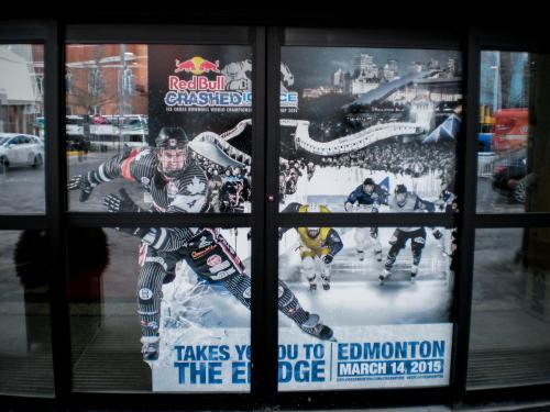 Edmonton Tourism  Crashed - Window Graphics