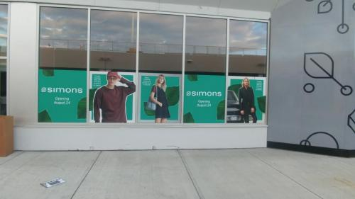 Londonderry Mall -  Glass decals - Simons - Window Graphics